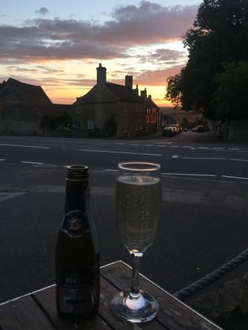 Sunset over Collyweston
