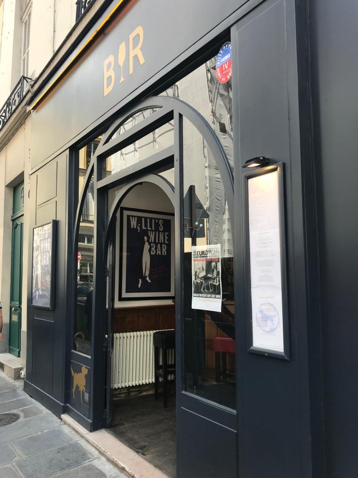 willi's wine bar Paris