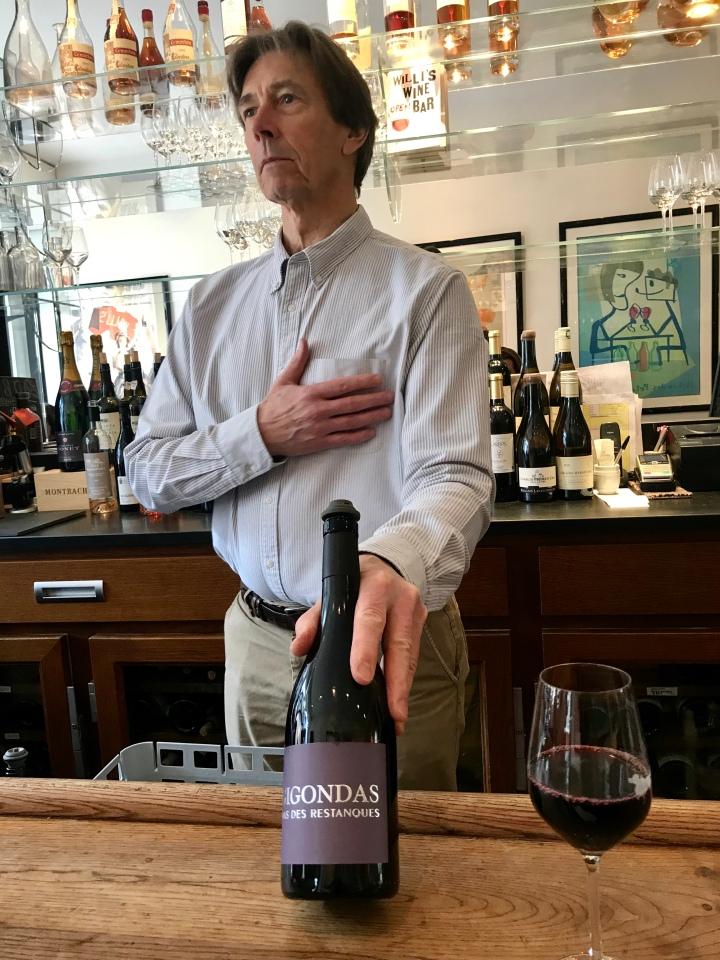 Mark Williamson in Willi's wine bar